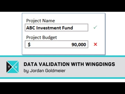 Data Validation with Wingdings - Excel Tips