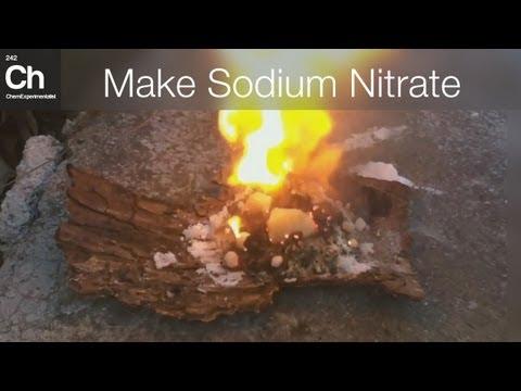 Make Sodium nitrate - NaNO3 for pyrotechnics, smokebombs and rockets