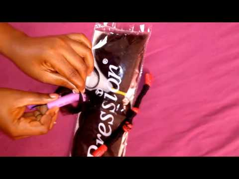 How to Curl Xpression Attachment for Crochet Braids and Wig