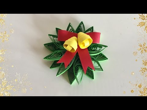 Quilling Christmas Ornament / Christmas Decoration Idea for kids   Priti Sharma