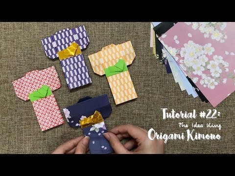 How to Make Origami Japanese Kimono Step by Step? | The Idea King Tutorial #22