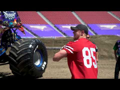 Monster Jam Drivers Meet 49ers Superstars at Levi's Stadium Santa Clara