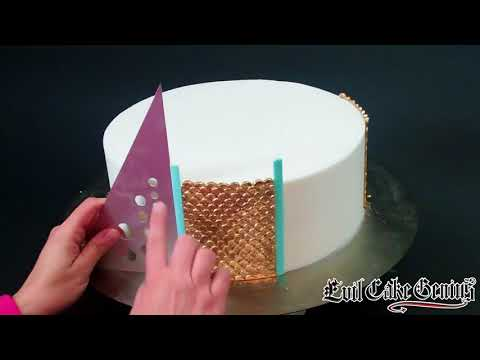 Gold Sequin Cake Fondant Impression Mat