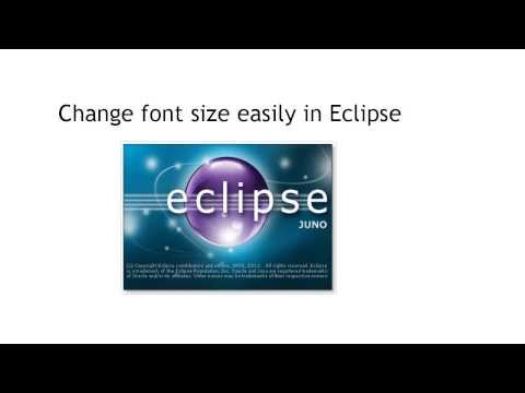 Eclipse Tip: change the font size easily