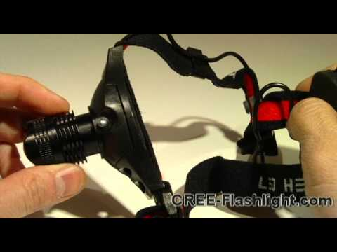 CAMPING HIKING FOCUS ZOOM AAA Q3 CREE LED HEADLAMP Demonstration & Review