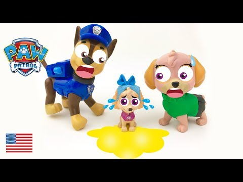 Baby Paw Patrol Chase and Skye Potty Training the Puppies Full Episode English Surprise Spiderman