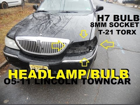 05- 11 Lincoln Town Car Headlight/Bulb Replacement