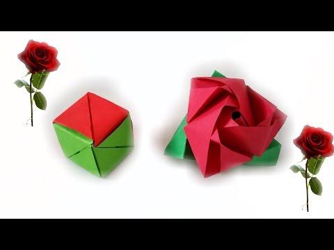Rosa Mágica de Origami - Tutorial