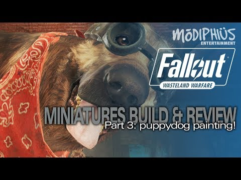 Modiphius Fallout Wasteland Warfare Miniatures 3:  Dogmeat - Puppydog Painting!