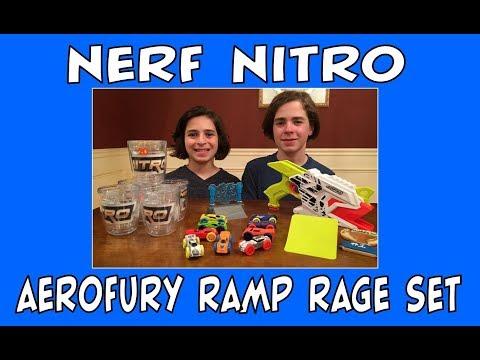 NERF NITRO Aerofury Ramp Rage Set | Unboxing & Showcase