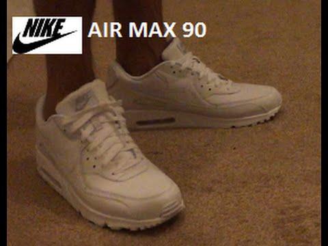 Nike air max 90 white leather trainers, sneakers,  mens, women QUICK 1 MIN REVIEW!
