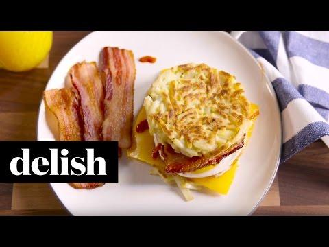 How To Make Hash Brown Breakfast Sandwiches | Delish