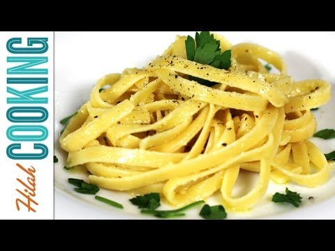 How to Make Fettuccine Alfredo | Hilah Cooking