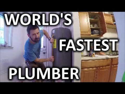 HOW TO REPLACE A HOT WATER HEATER IN 30 MIN | THE HANDYMAN