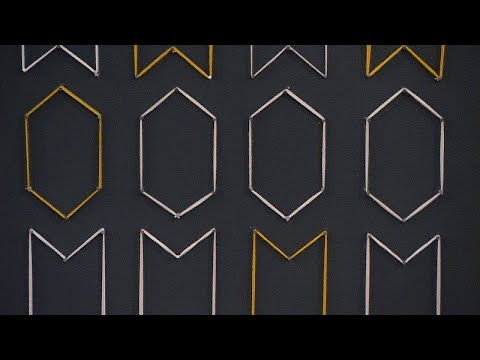$6 DIY Wall Decor: How to Use Yarn to Create a 3D Geometric Pattern