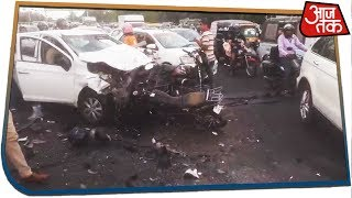 Speeding Car Rams Into Vehicles In Jaipur, Six Injured And Two Critical