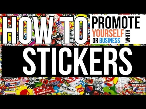 Graphic Design & Entrepreneurship Tutorials: How to market yourself with stickers