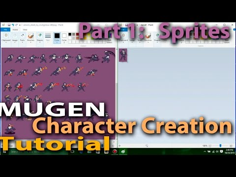 How to make a MUGEN Character Part 1: Preparing the Sprites M.U.G.E.N. Character Creation Tutorial