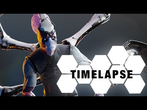 Sci-Fi Warrior - sculpting/texturing (Blender & Substance Painter Timelapse)