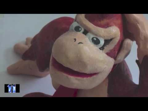 Donkey Kong Country Sculpture - Video Game Clay Figure Models | LSuperSonicQ