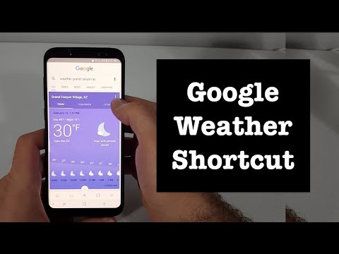 How To Add A Google Weather Shortcut To The Home Screen On Your Phone