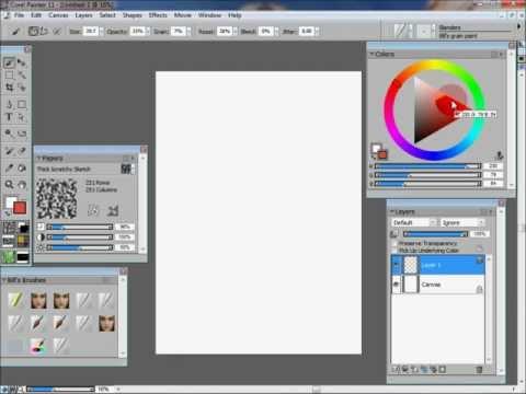 Make my custom brush in Corel Painter