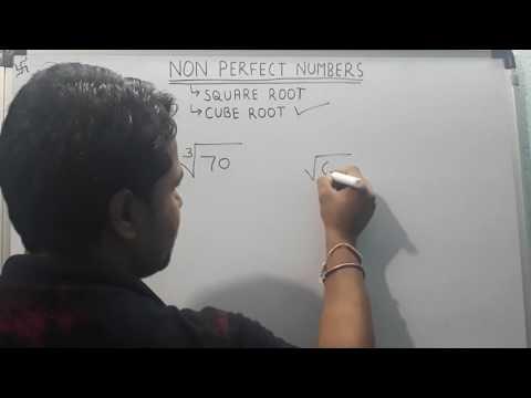 Non Perfect Number's Or Approximate Square Roots and Cube Roots