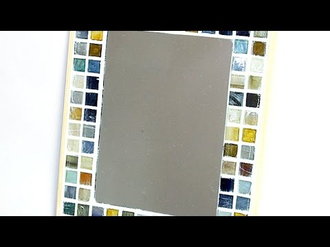 How To Make a Cute Mosaic Tile Mirror Frame - DIY Home Tutorial - Guidecentral