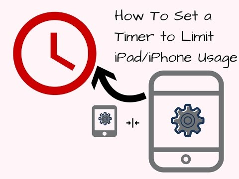 How to Set a Timer on an iPad to Limit iPad/iPhone Usage