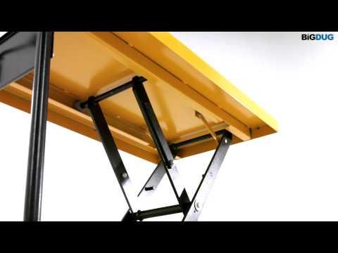 BiGDUG Single Scissor Lift Table Product Video