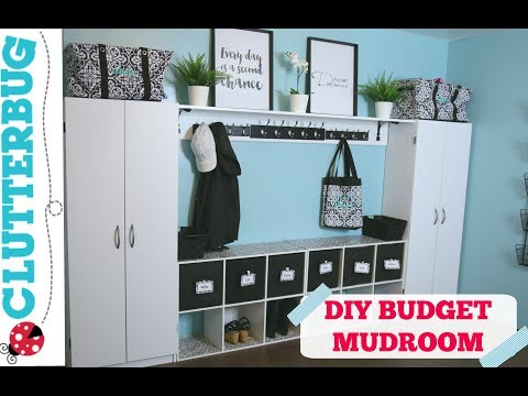 Create more storage in your home on a budget - DIY Mudroom Ideas