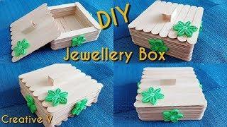 How to Make jewellry box / popsicle stick crafts / DIY