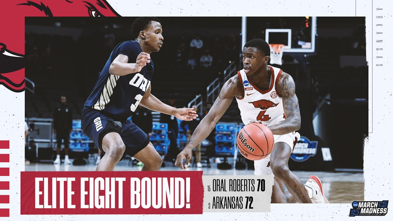 Oral Roberts vs. Arkansas - Sweet 16 NCAA tournament extended highlights