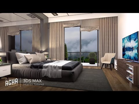 3Ds Max 2018 Interior Design ( Vray 3.6+Photoshop)