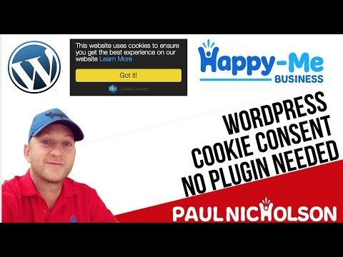 How To: Add Cookie Consent Popup To A Wordpress Website - No Plugins