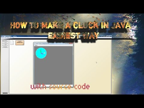 How to make an analog clock in JAVA