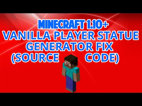 [Fixed] Vanilla Statue Generator 1.10+ [Source Code]