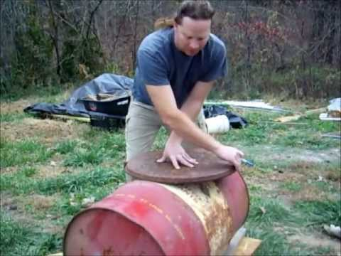 DIY Barrel Stove (Wood Heater) Oven