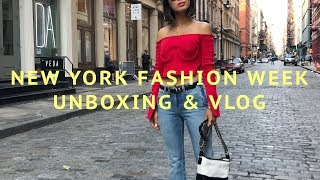 A Day In The Life - New York Fashion Week & Unboxing | Song of Style
