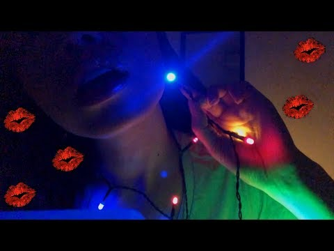 ASMR SOOTHING LAYERED SOUNDS KISSES + LIGHT VISUALS TO HELP YOU RELAX! 💋😽