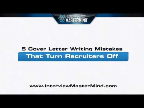 5 Cover Letter Writing Mistakes That Turn Recruiters Off
