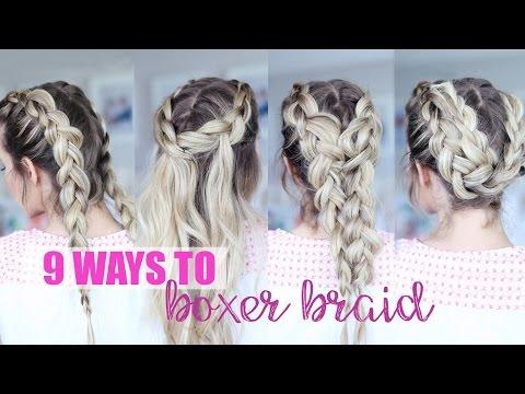 9 ways to boxer braids!!
