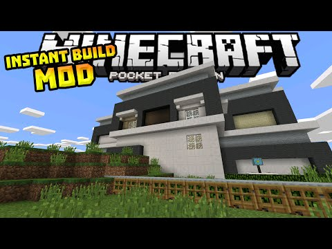 INSTANT HOUSE MOD in MCPE!!! - Amazing Builds & Structures - Minecraft PE (Pocket Edition)
