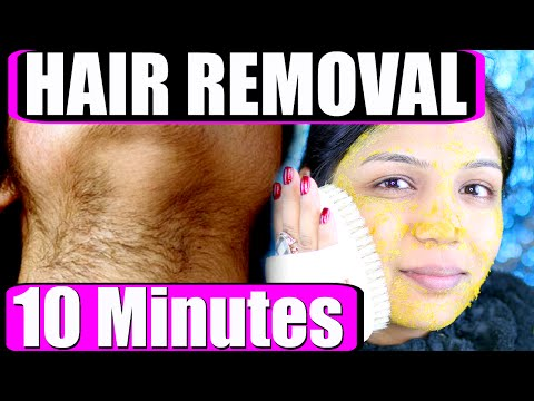 In 10 Minutes How To Remove Facial Hair Permanently At Home | SuperPrincessjo