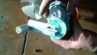 Generador de 220 v con el motor de desagüe de una lavadora 100 w