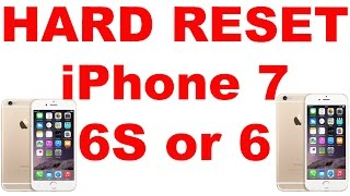 Hard Reset Apple Iphone 7 Iphone 6s Iphone 6 Or Ipad Reset Iphone To