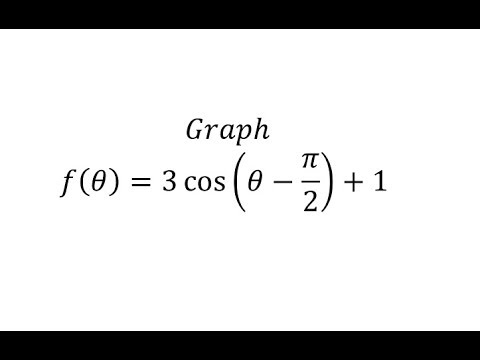 Graph a Transformation of The Cosine Function (B=1) (Pos A)