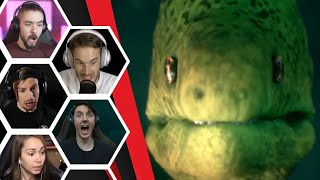 Let's Players Reaction To Getting Jumpscared By A Fish   Men Of Medan