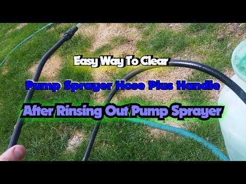 Easy Way To Clear Pump Sprayer Hose Plus Handle With Clean Water After Rinsing Sprayer