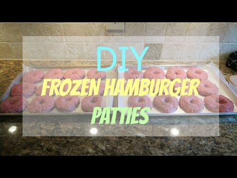 Bulk Freezer Meal: DIY homemade hamburger patties